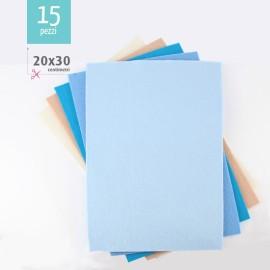 KIT RISPARMIO 15 FOGLI FELTRO 20X30 CM - BOY