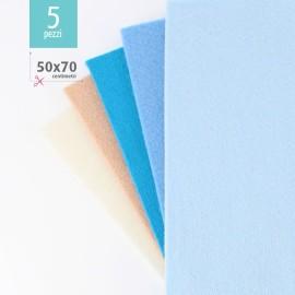 KIT RISPARMIO 5 FOGLI FELTRO 50X70 CM - BOY