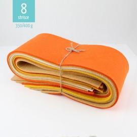KIT SCAMPOLI DI FELTRO MIX GIALLO/ARANCIO 350/400 gr