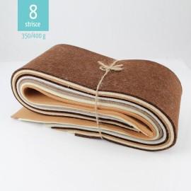 KIT SCAMPOLI DI FELTRO MIX MARRONE/TORTORA 350/400 gr