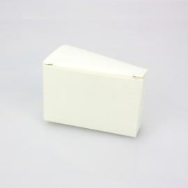 5 SCATOLINE A FETTA DI TORTA IN CARTONCINO AVORIO