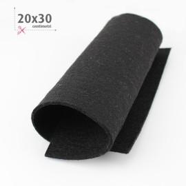 KIT RISPARMIO 15 FOGLI FELTRO 20X30 CM - NERO/BIANCO