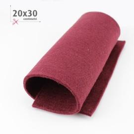 KIT RISPARMIO 15 FOGLI FELTRO 20X30 CM - BORDEAUX/GIALLO
