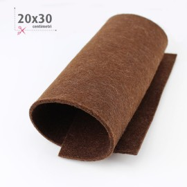 KIT RISPARMIO 15 FOGLI FELTRO 20X30 CM - MARRONE/CREMA