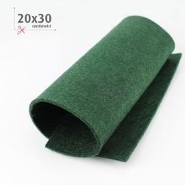 KIT RISPARMIO 15 FOGLI FELTRO 20X30 CM - VERDE/PANNA