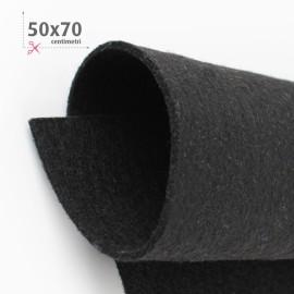 KIT RISPARMIO 5 FOGLI FELTRO 50X70 CM - NERO/BIANCO