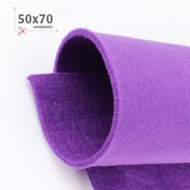 KIT RISPARMIO 5 FOGLI FELTRO 50X70 CM - VIOLA/FUCSIA