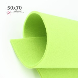 KIT RISPARMIO 5 FOGLI FELTRO 50X70 CM - VERDE/PANNA