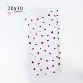 PANNOLENCI STAMPATO NATALIZIO 20X30 CM STELLINE - BIANCO