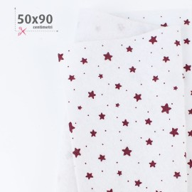 PANNOLENCI STAMPATO NATALIZIO 50X90 CM STELLINE - BIANCO