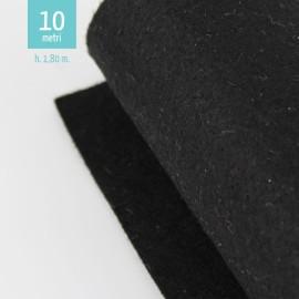 ROTOLO PANNOLENCI NERO H180 CM x 10 M