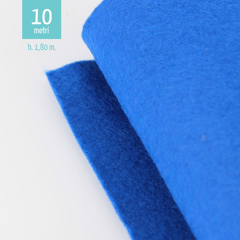 ROTOLO PANNOLENCI BLU ELETTRICO H180 CM x 10 M