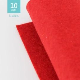 ROTOLO PANNOLENCI ROSSO H180 CM x 10 M