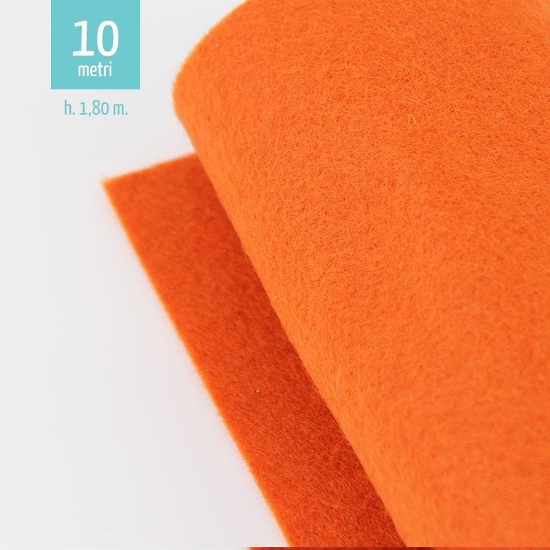 ROTOLO PANNOLENCI ARANCIO H180 CM x 10 M