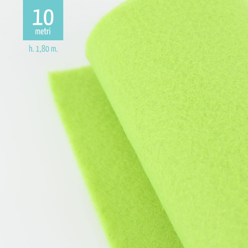 ROTOLO PANNOLENCI VERDE ACIDO H180 CM x 10 M