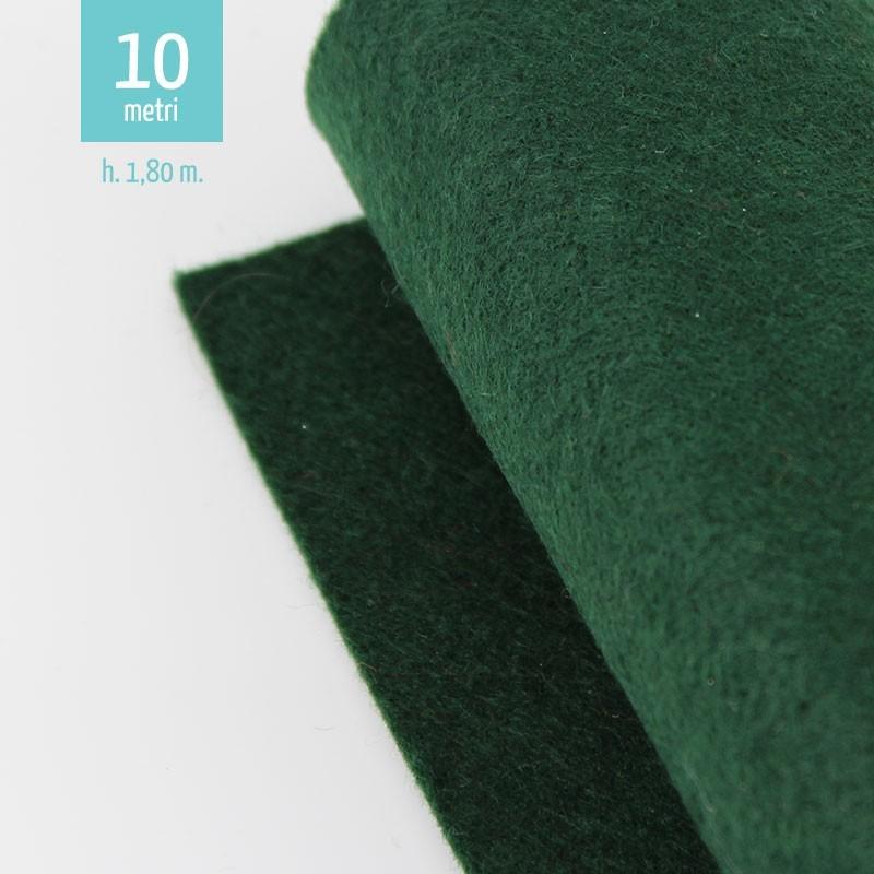 ROTOLO PANNOLENCI VERDE SCURO H180 CM x 10 M