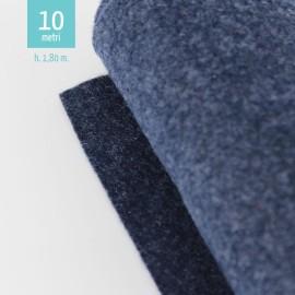 ROTOLO PANNOLENCI BLU SCURO MELANGE H180 CM x 10 M