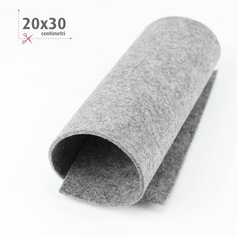 FELTRO GRIGIO CHIARO MELANGE 20X30 CM