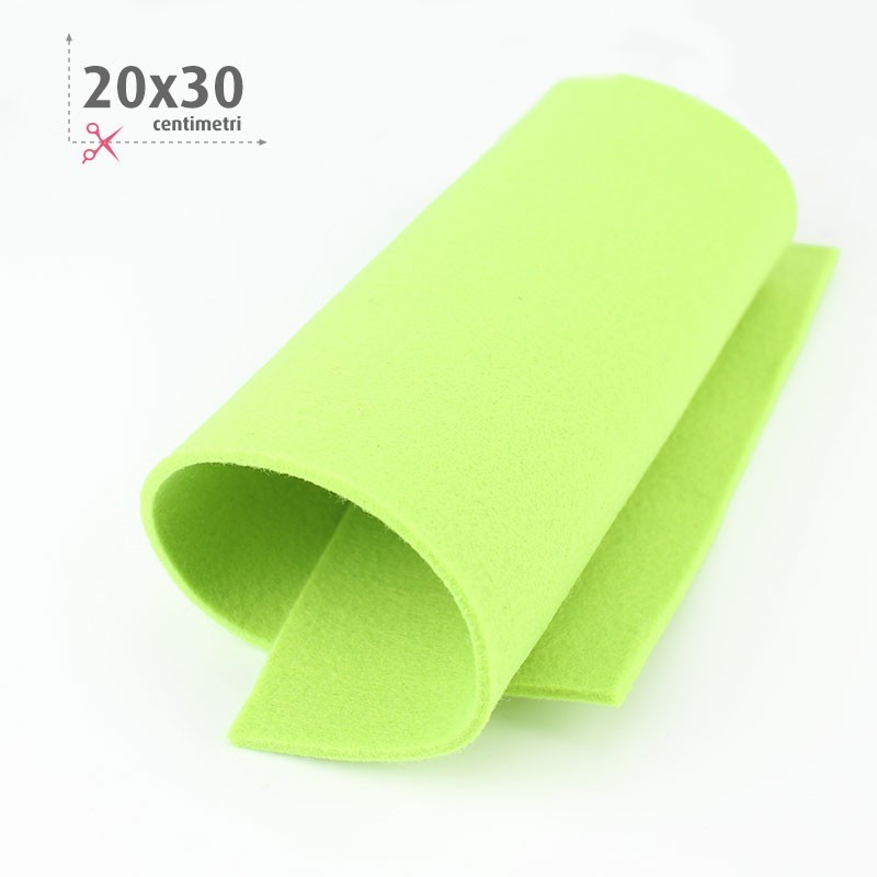 FELTRO VERDE ACIDO 20X30 CM