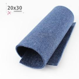 FELTRO BLU SCURO MELANGE 20X30 CM
