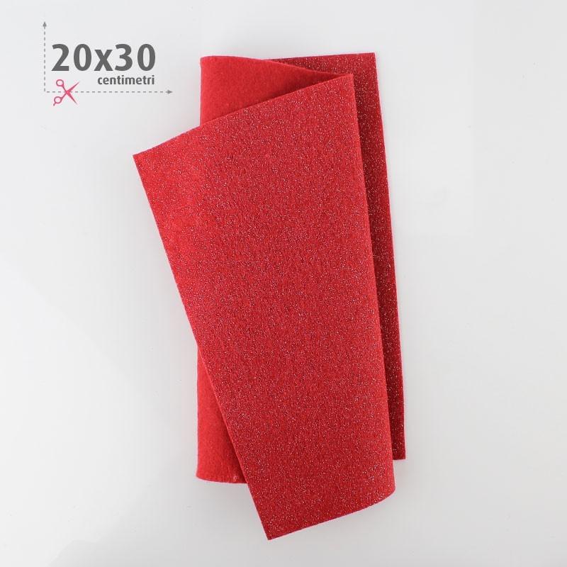 PANNOLENCI METAL 20X30 CM - ROSSO