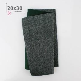 PANNOLENCI METAL 20X30 CM - VERDE SCURO