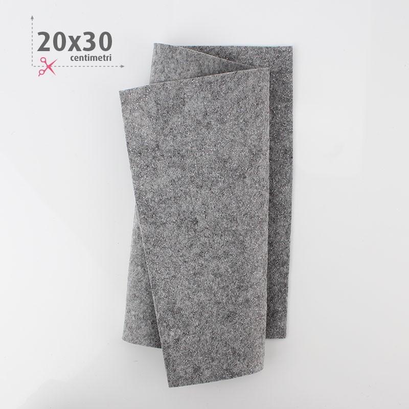 PANNOLENCI METAL 20X30 CM - GRIGIO CHIARO