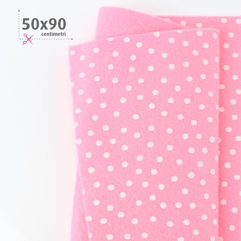 PANNOLENCI STAMPATO 50X90 CM POIS - ROSA