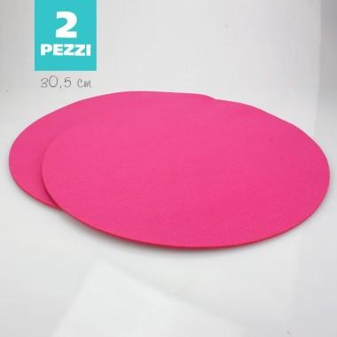 SET OF 2 TABLE MATS FELT - FUCHSIA