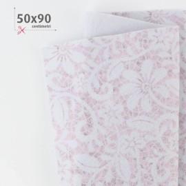 PANNOLENCI STAMPATO 50X90 CM FLOREALE - ROSA