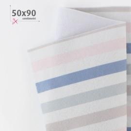 PANNOLENCI STAMPATO 50X90 CM FASCE - ROSA BABY