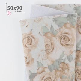 PANNOLENCI STAMPATO 50X90 CM BOUQUET ROSE - BEIGE/PANNA
