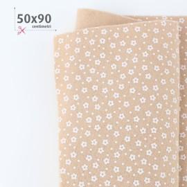 PANNOLENCI STAMPATO FIORELLINI 50X90 CM - BEIGE