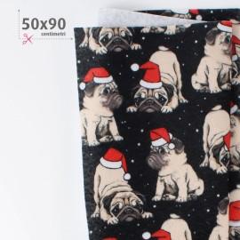 PANNOLENCI STAMPATO NATALIZIO 50X90 CM DOGS - NERO