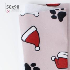 PANNOLENCI STAMPATO NATALIZIO 50X90 CM DECORAZIONE CANE - TORTORA