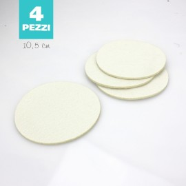 SET OF 4 COASTERS IN FELT - WHITE