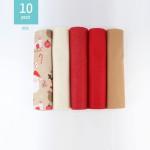 KIT RISPARMIO NATALE 10 PANNOLENCI 20x30 cm JOY OF CHRISTMAS