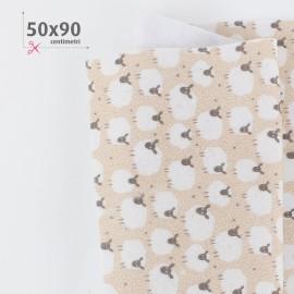 PANNOLENCI STAMPATO PECORELLE 50X90 CM - BEIGE