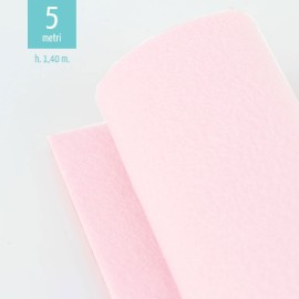 ROLL OF LIGHT PINK FELT H140 CM x 5 MT