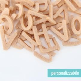 SET 250 LETTERE MINI IN FELTRO STAMPATELLO MAIUSCOLO - FONT 1