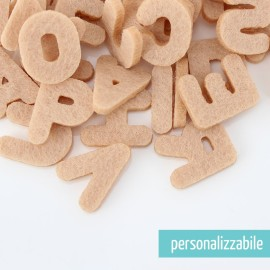 SET 250 LETTERE MINI IN FELTRO STAMPATELLO MAIUSCOLO - FONT 4