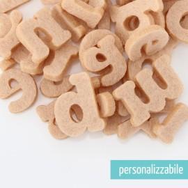 SET 250 LETTERE MINI IN FELTRO STAMPATELLO MINUSCOLO - FONT 2
