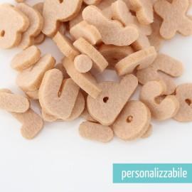 SET 250 LETTERE MINI IN FELTRO STAMPATELLO MINUSCOLO - FONT 4