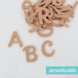 SET 26 LETTERE IN FELTRO STAMPATELLO MAIUSCOLO - FONT 1