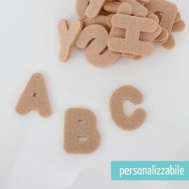 SET 26 LETTERE IN FELTRO STAMPATELLO MAIUSCOLO - FONT 4
