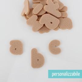 SET 26 LETTERE IN FELTRO STAMPATELLO MINUSCOLO - FONT 4