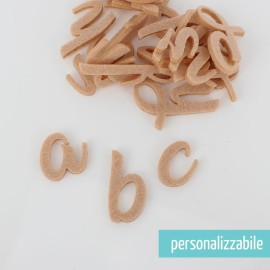 SET 26 LETTERE IN FELTRO CORSIVO MINUSCOLO - FONT 5