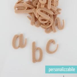 SET 26 LETTERE IN FELTRO CORSIVO MINUSCOLO - FONT 6