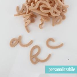 SET 26 LETTERE IN FELTRO CORSIVO MINUSCOLO - FONT 7