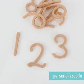 SET 30 NUMERI IN FELTRO - FONT 7